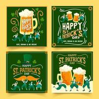 Celebration Saint Patrick's Day Card vector