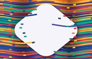 Pop rainbow background vector