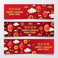 feliz año nuevo chino banner vector