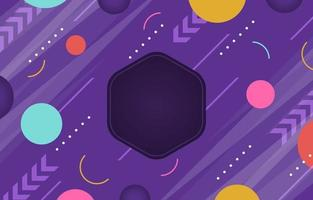 Flat Geometric Colorful Background vector