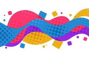 Colorful Geometric Wave Background vector
