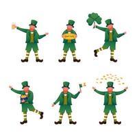Collection Of Leprechaun vector