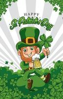 Happy St. Patrick's Day Background Concept vector