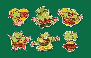 St. Patrick's Day Shamrock Sticker vector