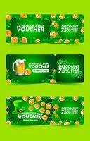 Saint Patrick's Day Voucher Template Collection vector