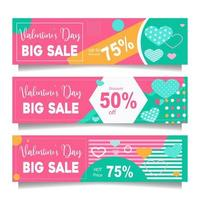 Valentine's Day Promotion Banner Collection vector