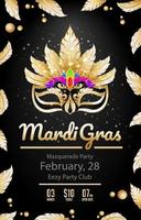 Luxury Mardi Gras Poster on Black Background