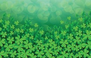 Saint Patrick's Day Clover Shamrock Background vector