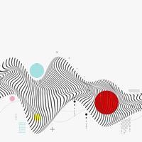 Geometric Futuristic Wave Background vector