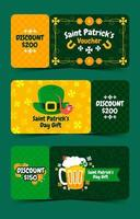 Saint Patrick's Day Voucher Discount Collection vector