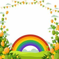 St. Patrick's Day Background With Rainbow