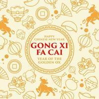 Gong Xi Fa Cai Icon Design vector