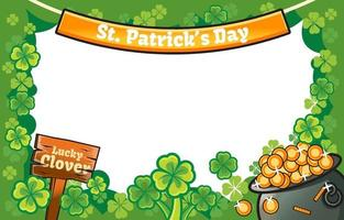Clover Lucky Frame with White Background vector