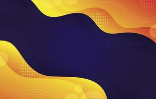 Gold Wave Geometric Background vector