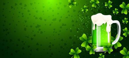 Clover and Beer Background vector