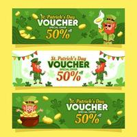 Saint Patricks Day Special Lucky Voucher vector