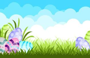 Cute Easter Egg Background Template vector