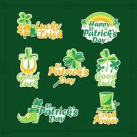 Clover Stickers to Celebrate St. Patrick's Day vector