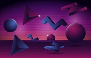3D Futuristic Retro Background