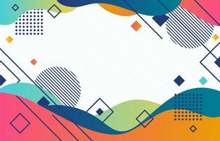 Colourful Wave Background Combine with Geometric Shape vector