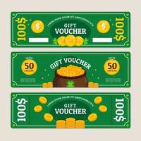 Saint Patrick Themed Voucher for Marketing Purposes vector
