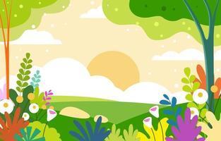 Spring with Landscape Background