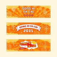 Gong Xi Fa Cai Festival Banner vector