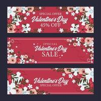 Concept for Valentine's Day Sale vector