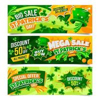St. Patrick's Marketing Banner Collection vector