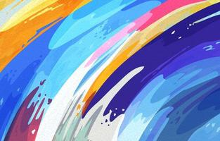 Fondo abstracto colorido de bellas artes vector