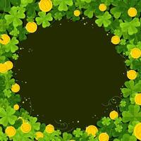 Clover Decoration With Blank Space vector