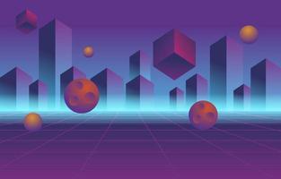 Retro Futurism Style Background vector