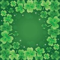 Beautiful and Elegant Gradient Green Clover Background