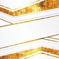 elegante fondo blanco y dorado vector