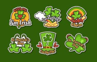 St. Patrick's Day Shamrock Sticker Set