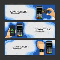Contactless Technology Illustration Banner
