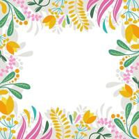 Abstract Floral Frame for Spring Background vector