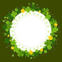Clover For St. Patrick's Day Event vector