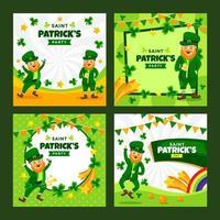 colección de tarjetas de invitación de st patricks vector
