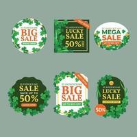 Set of Saint Patrick Big Sale Discount Label