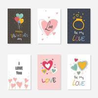 feliz dia de san valentin banner set vector