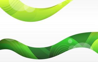 Dynamic Astract Shape with Green Background vector
