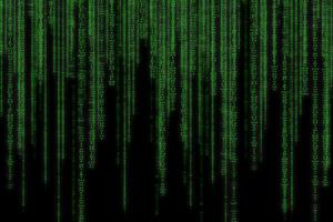 Abstract green technology binary background photo