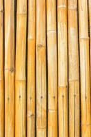 Yellow bamboo fence for background