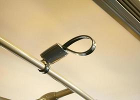 Handle on bus or train