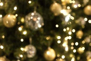Blurred Christmas lights for background