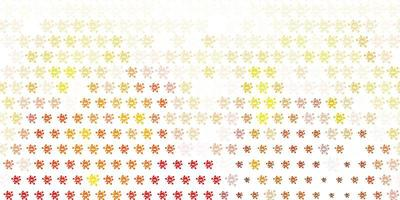 Light Red, Yellow vector texture with disease symbols.