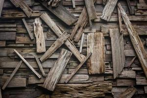 Arrangement of wood planks for texture or background
