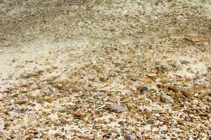 Water on pebbles at beach