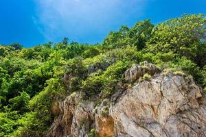 Mountain and blue sky at Koh Kham island in Thailand